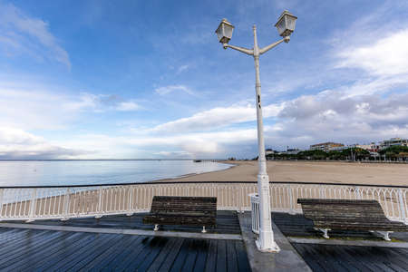 Lamp post on Thiers Pier in Arcachon, Aquitaine, France