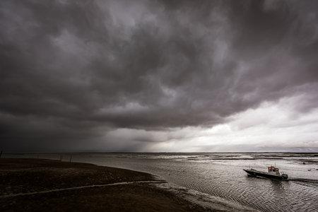 Boat leaving Larros Harbor in Arcachon Bay - Gujan-Mestras, Aquitaine, France