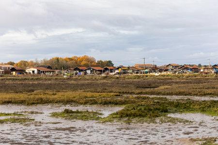 Gujan Harbor in Arcachon Bay - Gujan-Mestras, Aquitaine, France Archivio Fotografico