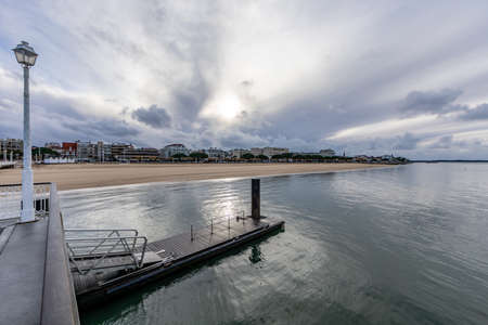 View to Arcachon from Thiers Pier, Aquitaine, France Archivio Fotografico