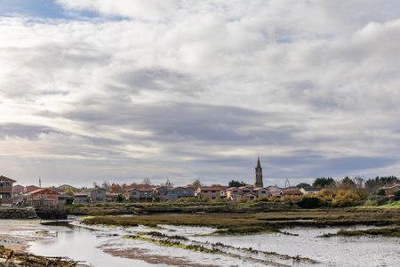 The city of Gujan-Mestras, Arcachon Bay, Aquitaine, France