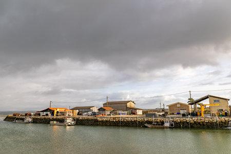 Larros Harbor in Arcachon Bay - Gujan-Mestras, Aquitaine, France Editoriali