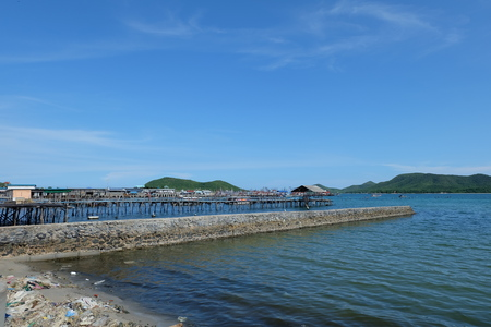The sea of Sattahip at Thailand