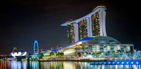 place of interest: Marina Bay Sands, The Art and Science Museum and Singapore Flyer Editorial