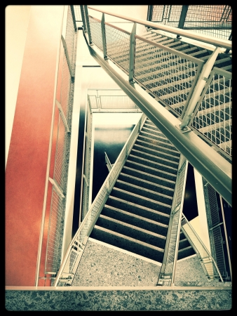 going down: a photo of stairs going down