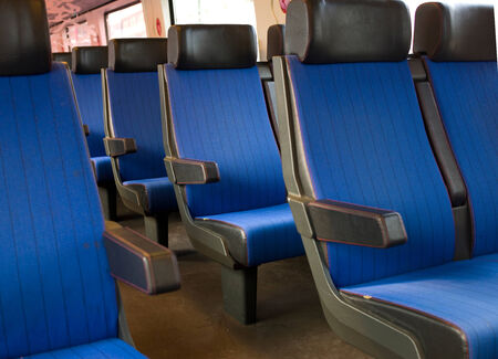 A photo of the interior of a dutch train