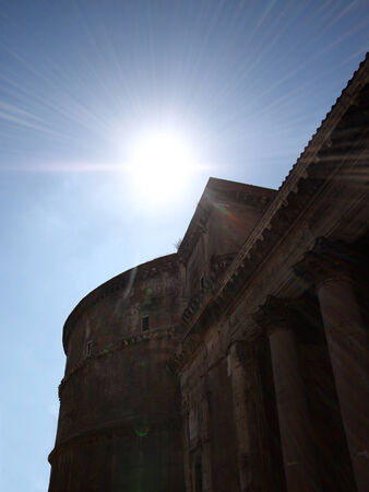 A photo of the Pantheon in Rome Stock Photo