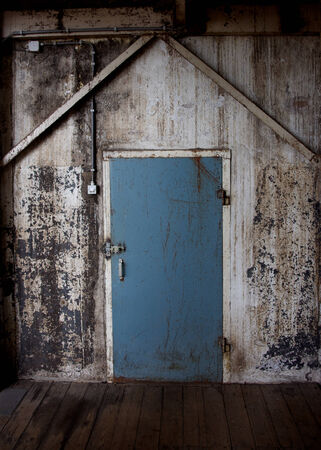 A photo of an old door