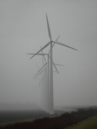 A photo of a windmill