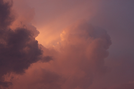 A photo of clouded skies