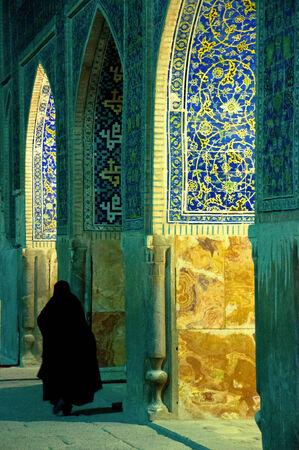 burqa: Woman in Mosque