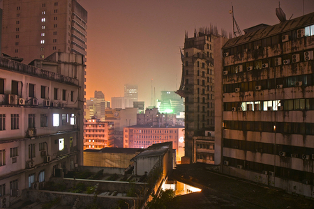developing country: Dhaka by night Stock Photo