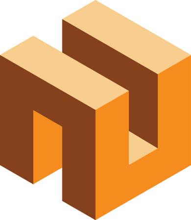 illustration of a Cube 矢量图像