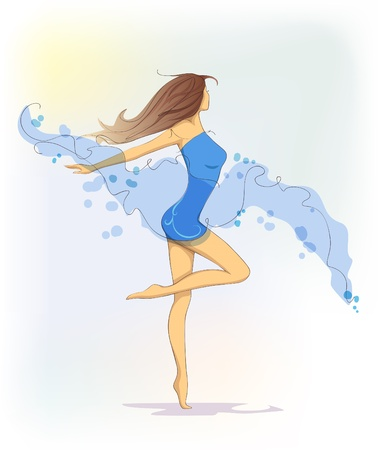 blue dance Vector