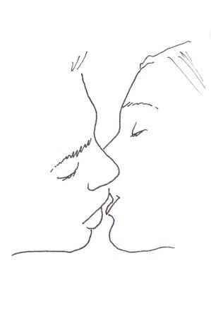 kiss: sketch: first love