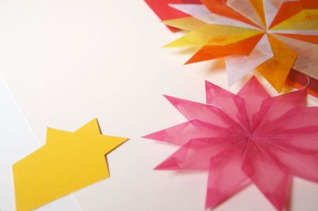 tracing: Star and tracing paper, christmas