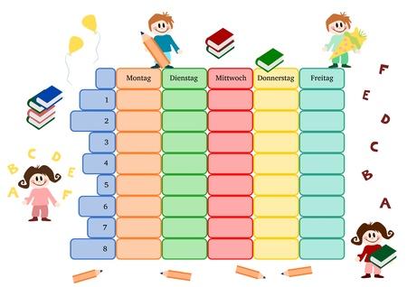 timetable: Illustrazione: Calendario o classe schedule