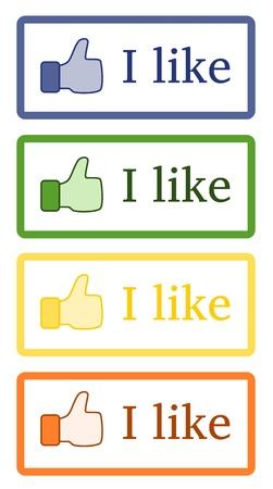I like - Button