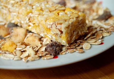 barra de cereal: barra de cereales Foto de archivo