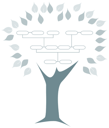 Illustration of a family tree illustration