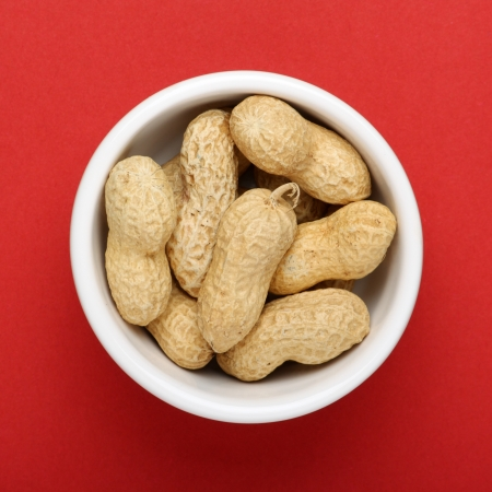 miserly: A very small portion of peanuts in a bowl