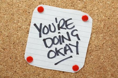 reassurance: Usted est� haciendo Recordatorio Vale en un tabl�n de corcho
