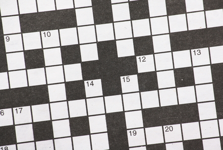 Blank newspaper crossword puzzle with numbered black and white squares