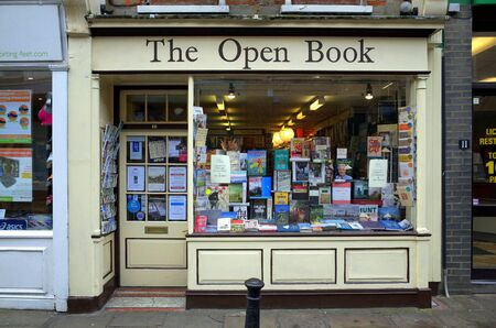 London, England - February 04, 2016: The Open Book in Richmond, London is an independent bookseller. As of 2015 it is estimated there are less than a thousand independent bookshops left in the UK