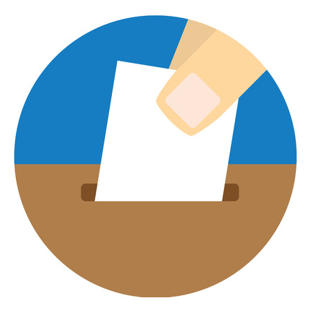 suggestions: Close up of fingers dropping a blank slip of paper into a ballot or suggestions box