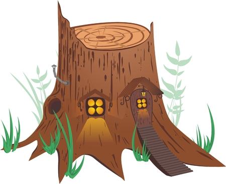 Little fairy-tale house. Stock Vector - 4607376