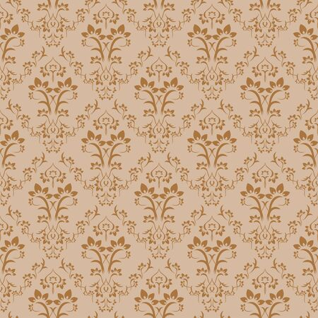Seamless retro damask pattern. Stock Vector - 4607377