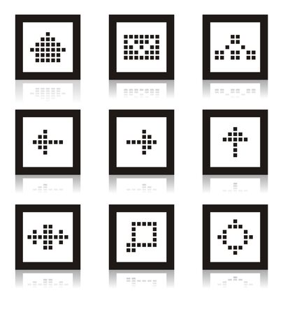 Web icon set of home, site map, forum, e-mail and others. Vector