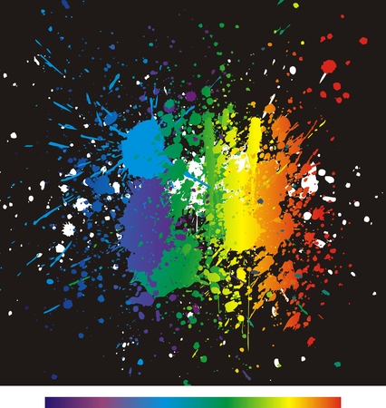Color paint splashes. Gradient vector background. Vector