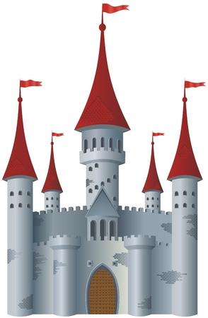 castello fiabesco: Fiabesco castello. Vettoriali