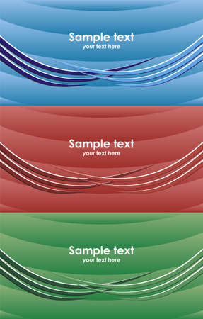 Set of modern background card in different color Vector