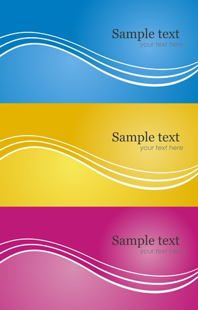 Abstract vector modern background set in different color Vector