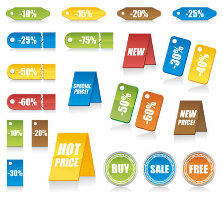 Set of design elements can used for tags, labels, stickers, badges in your work. Vector