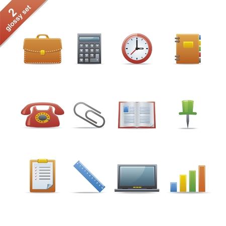 notebook icon: Set di 12 icone lucido web Parte 2 (vedi altri nel mio portafoglio) Vettoriali