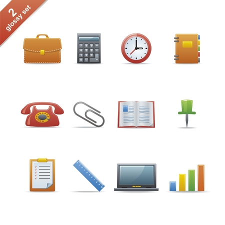 tool bag: Set of 12 glossy web icons Part 2 (see other in my portfolio)
