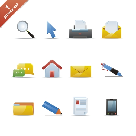 Set of 12 glossy web icons Part 1 (see other in my portfolio)