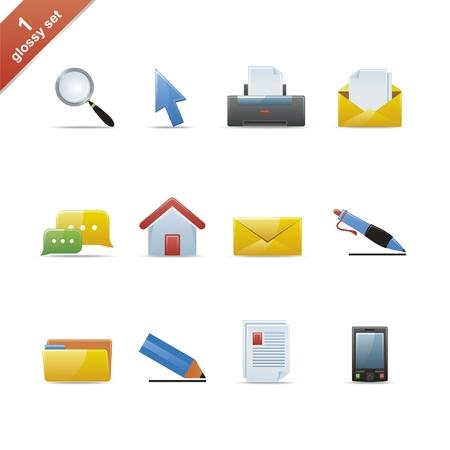 search icon: Set van 12 glossy web icons, deel 1 (zie de andere in mijn portefeuille)