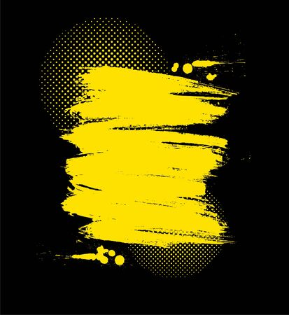 Vector color paint grunge background in yellow and black color Vector