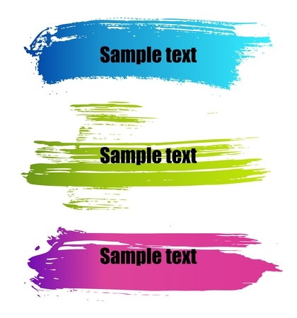 Set of vector colorful paint grunge banners Vector