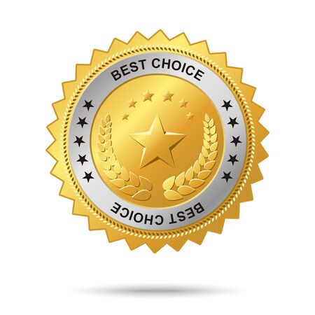 Vector golden badge named Best choice for your business artwork Vector
