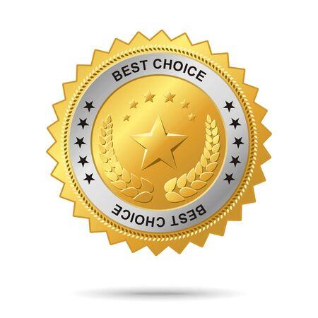 named: Vector golden badge named Best choice for your business artwork