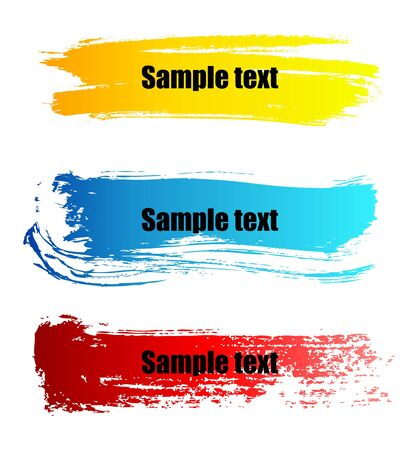 Set of vector colorful paint grunge banners Stock Vector - 5225081