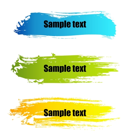 Set of vector colorful paint grunge banners Stock Vector - 5225078