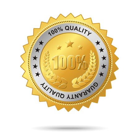 guaranty: Vector golden badge named Guaranty quality for your business artwork