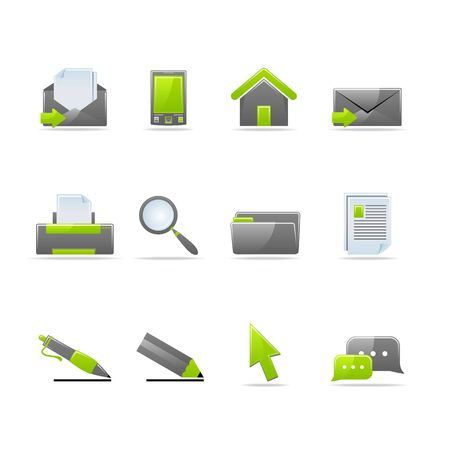 Set of 12 glossy web icons (see other in my portfolio) Stock Vector - 5238739