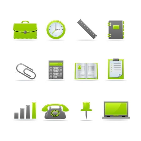 Set of 12 glossy web icons Part 2 (see other in my portfolio) Stock Vector - 5238742